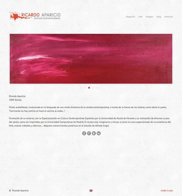 Web Ricardo Aparicio