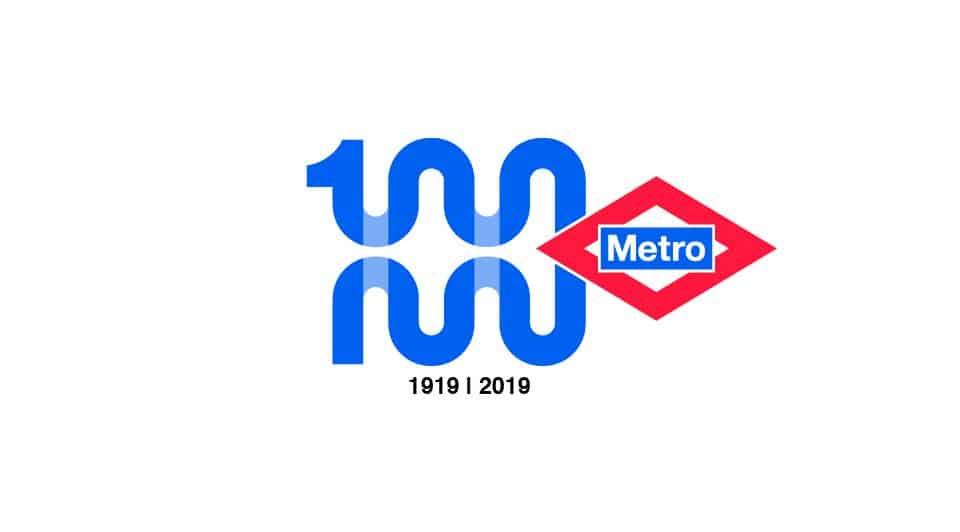 Logo Centenario MetroMadrid